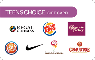 Teen's choice gift card